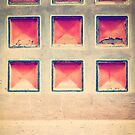 Squares in wall by Silvia Ganora