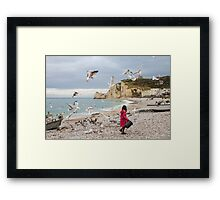 Landscape: Fisherman's Daughter: Etretat, France Framed Print