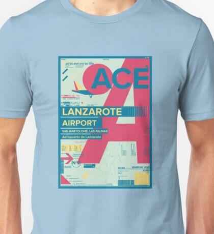 Lanzarote Canary Islands Spain Airport Travel Design Unisex T-Shirt