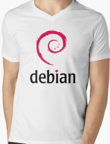 Debian Mens V-Neck T-Shirt