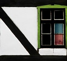 Half - Timbered Farmhouse by Angelika  Vogel