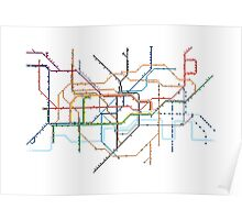 London Underground Pixel Map Poster