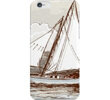 Vintage Sailing Ship on the Sea iPhone Case/Skin