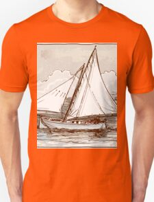 Vintage Sailing Ship on the Sea T-Shirt
