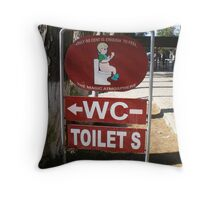 WC Sign Post Throw Pillow