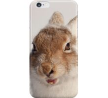 Yawning mountain hare iPhone Case/Skin