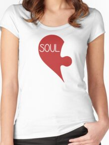 Soulmate Valentine's Day Love Heart Women's Fitted Scoop T-Shirt