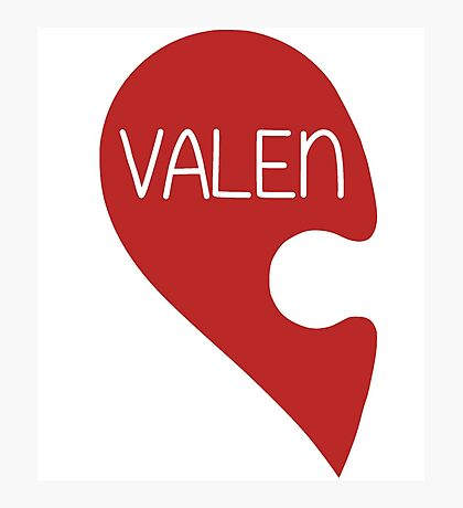 Valetine Valentine's Day Love Heart Photographic Print