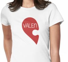 Valetine Valentine's Day Love Heart Womens Fitted T-Shirt
