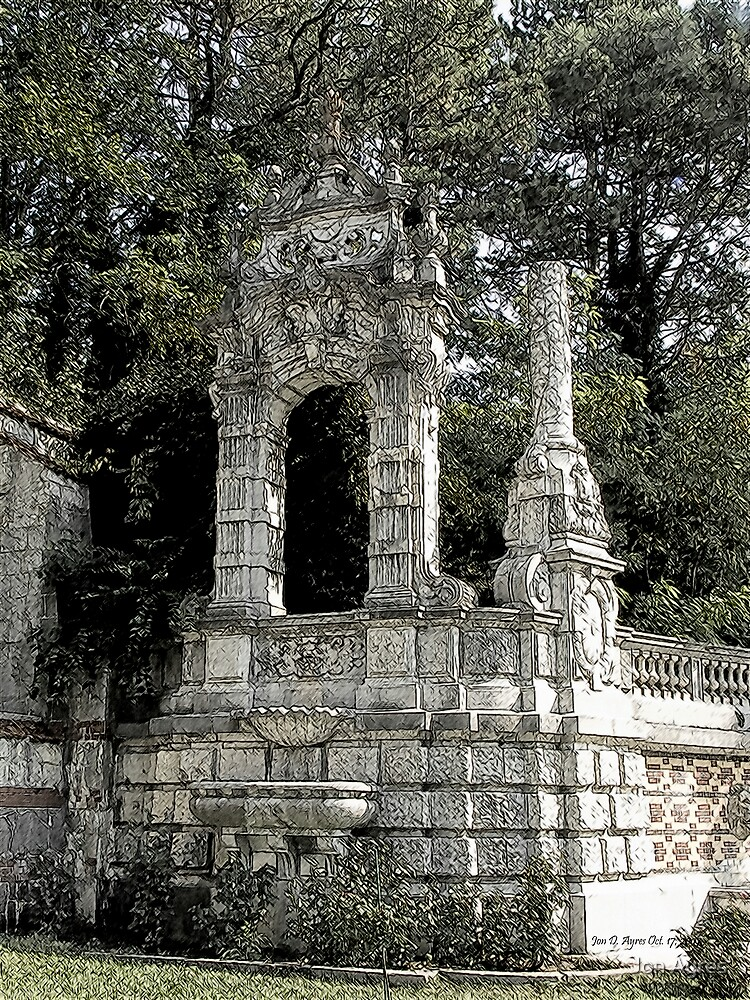 The Retaining Wall of Massandra Palace2 by Jon Ayres