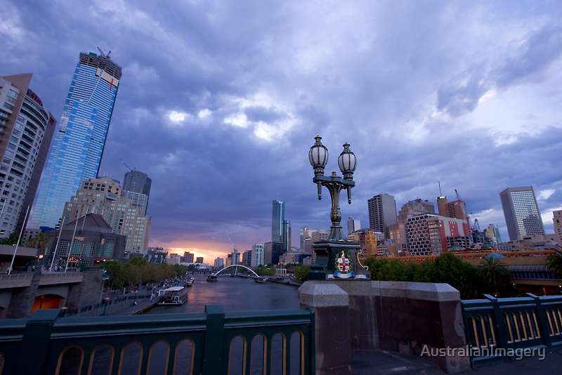 Melbourne Skyline by AustralianImagery