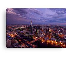 Melbourne at Sunset Canvas Print