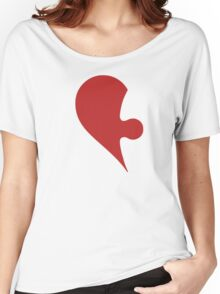 Puzzle Pieces Love Heart Women's Relaxed Fit T-Shirt
