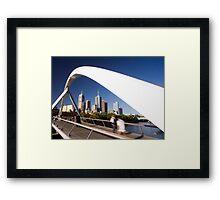 Southgate Footbridge, Melbourne Framed Print