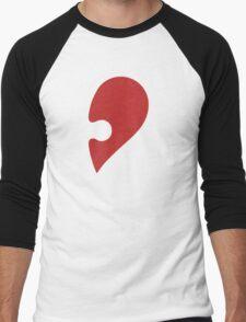Puzzle Pieces Love Heart Men's Baseball ¾ T-Shirt