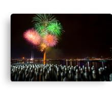Fireworks at Docklands Canvas Print