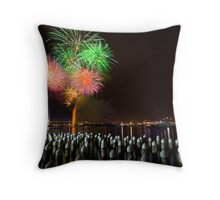 Fireworks at Docklands Throw Pillow