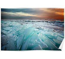 Ice Flow II - Lake Superior Poster