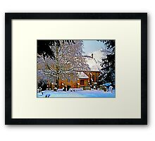 Warmth of a Church in Winter.  Framed Print