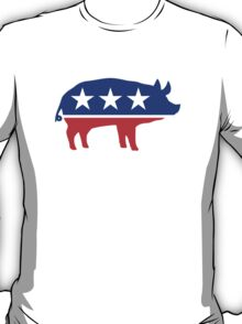Political Party Pig Mascot T-Shirt