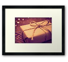 Gift box Framed Print