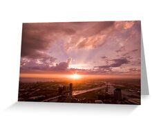 Melbourne at Sunset Greeting Card