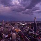 Melbourne Skyline by AustralianImagery