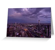 Melbourne Skyline Greeting Card