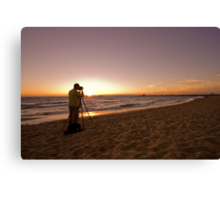 Sunset Photographer Canvas Print