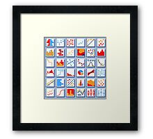 Stats Element Set in Various Colors Framed Print