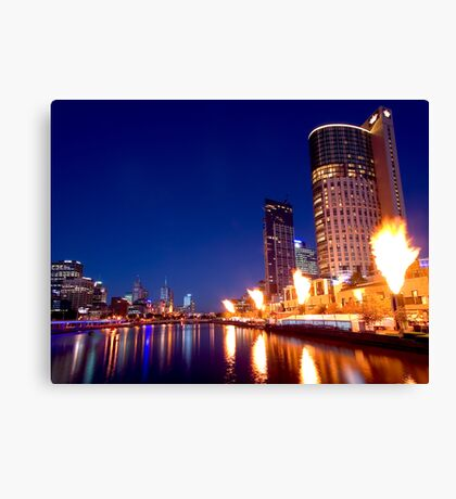 Crown Casino Fireshow, Melbourne Canvas Print