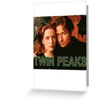 Twin Peaks / X-Files Greeting Card