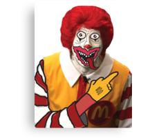 Rude Ronald McDonald Canvas Print