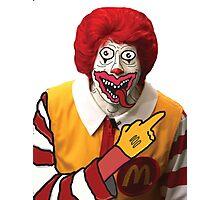 Rude Ronald McDonald Photographic Print