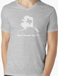 Isn't Texas Cute Compared to Alaska Mens V-Neck T-Shirt