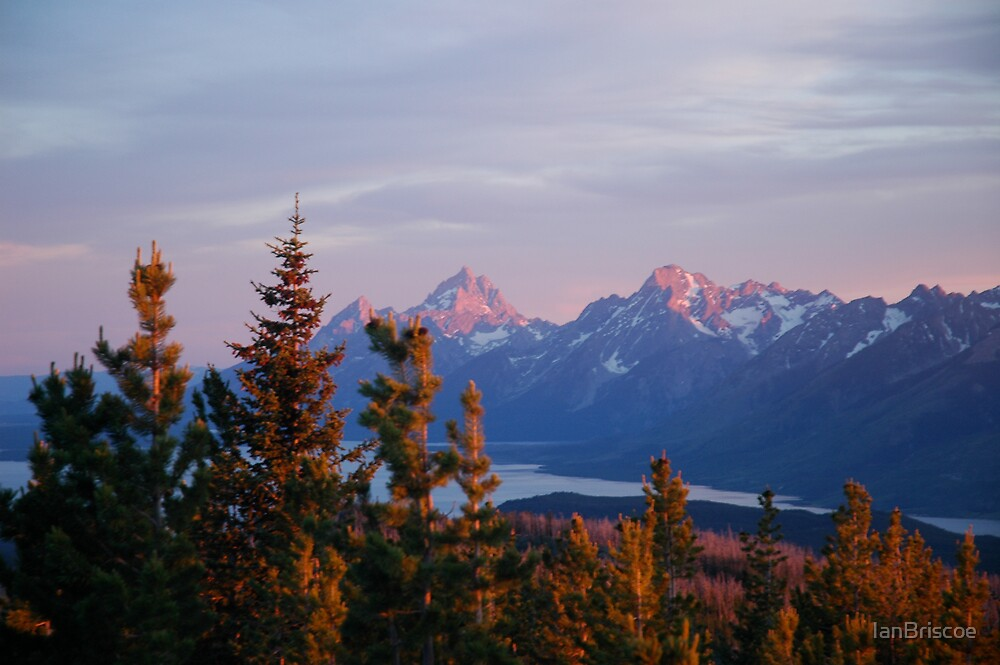 Tetons at dusk by IanBriscoe