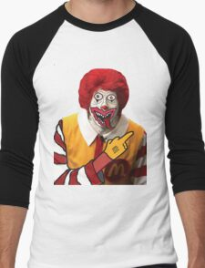 Rude Ronald McDonald Men's Baseball ¾ T-Shirt
