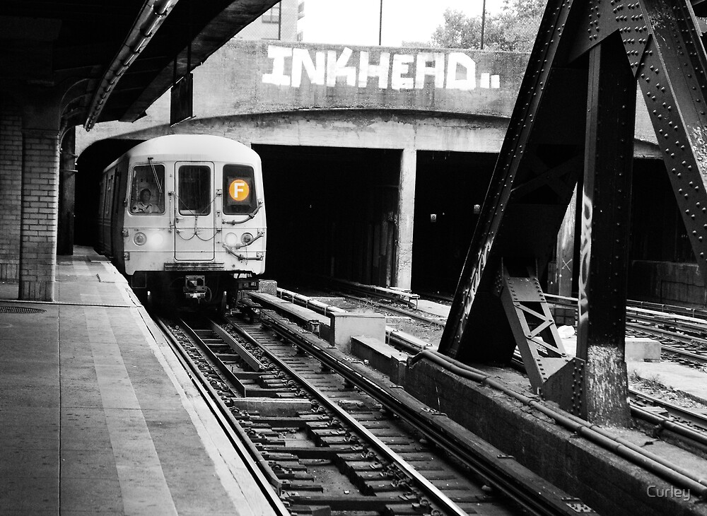 Brooklyn F Train by Curley