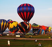 Balloons Rising by Curley