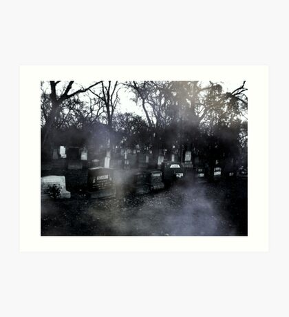haunted graves Art Print