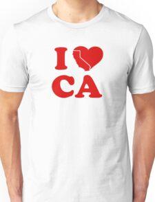 I Love California Heart Unisex T-Shirt