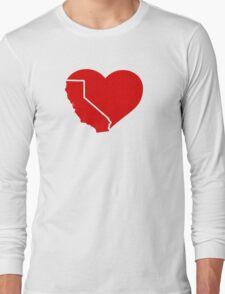 I Love California Heart Long Sleeve T-Shirt