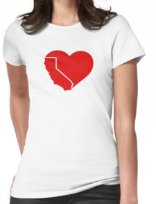 I Love California Heart Womens Fitted T-Shirt