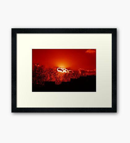 Burning Cloud Framed Print