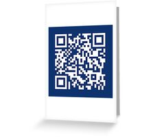 Barcode Rickroll! (white) Greeting Card