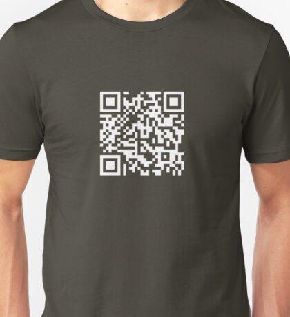 Barcode Rickroll! (white) Unisex T-Shirt