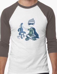 Boy with Knife (navy) Men's Baseball ¾ T-Shirt