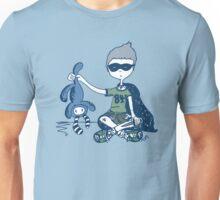 Boy with Knife (navy) Unisex T-Shirt