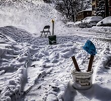 Chicago Winter dibbs street parking scene by Sven Brogren