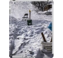 Chicago Winter dibbs street parking scene iPad Case/Skin